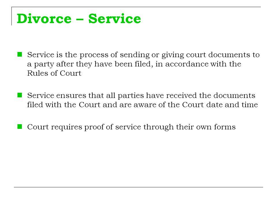 Divorce – Service