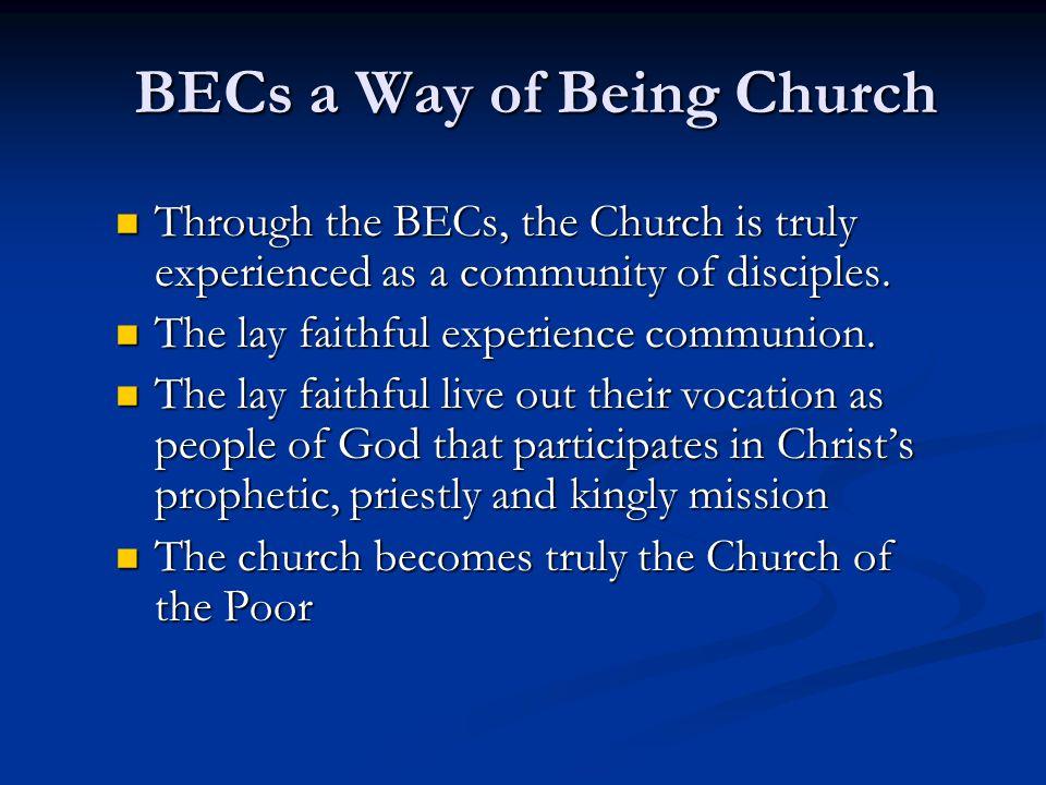 BECs a Way of Being Church