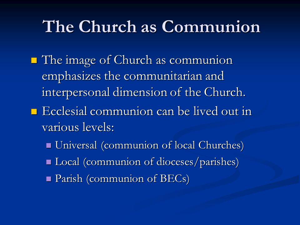 The Church as Communion