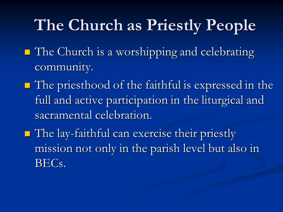The Church as Priestly People