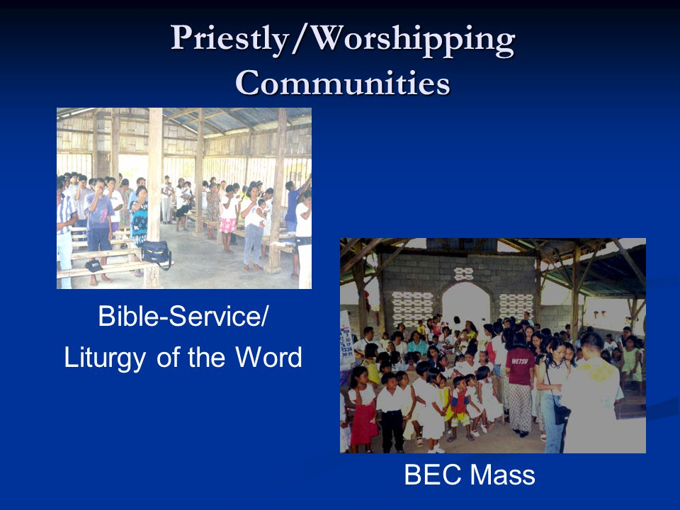 Priestly/Worshipping Communities