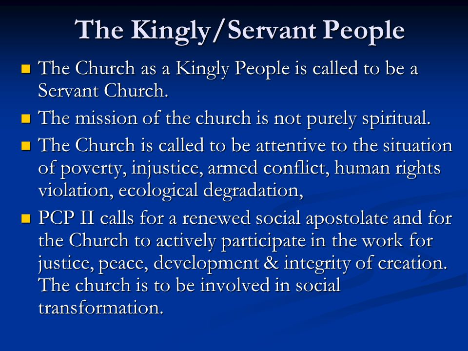 The Kingly/Servant People