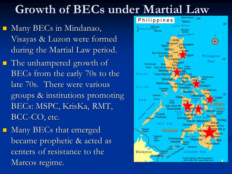 Growth of BECs under Martial Law