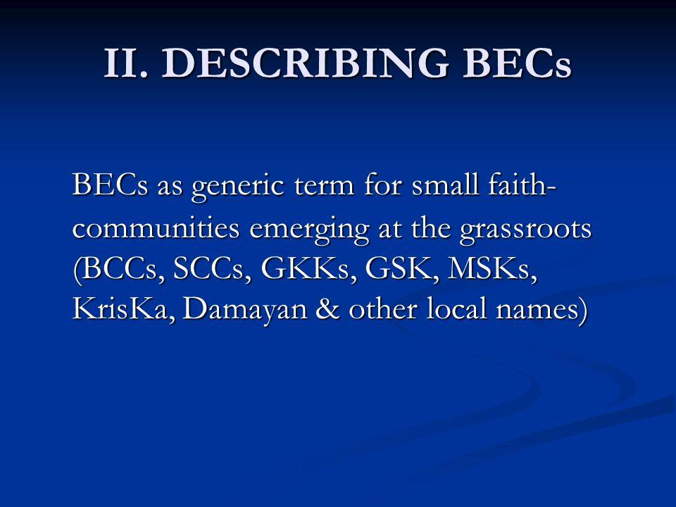II. DESCRIBING BECs