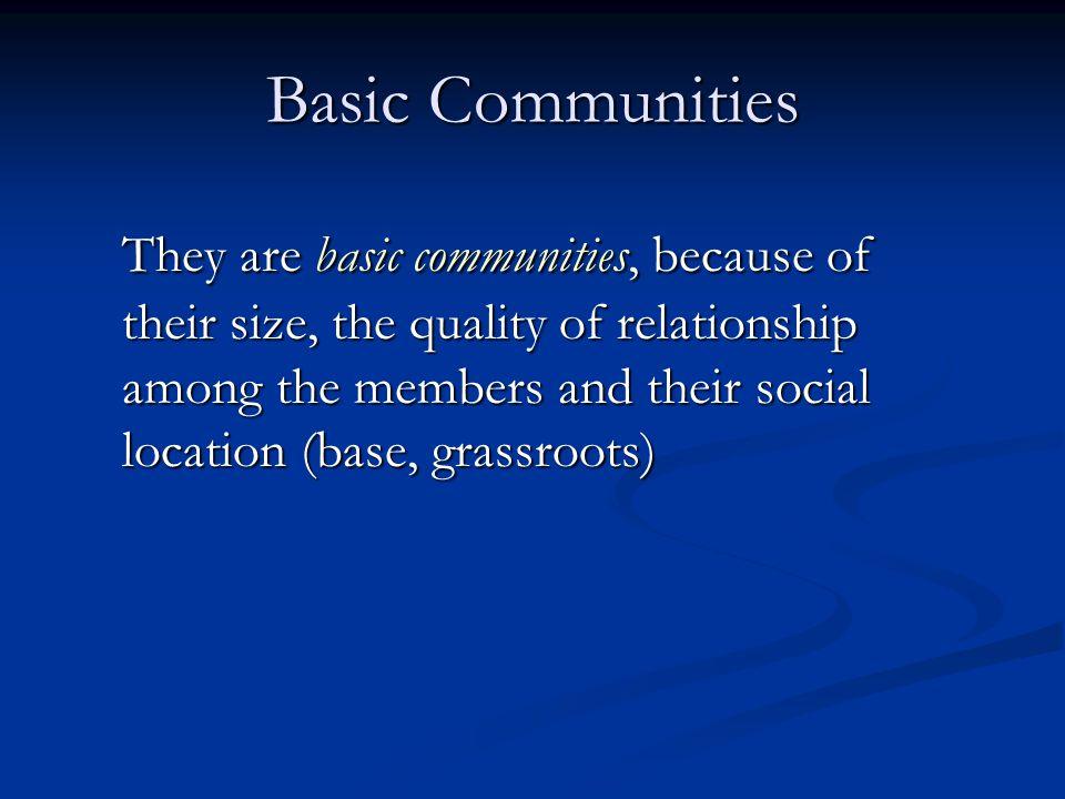 Basic Communities