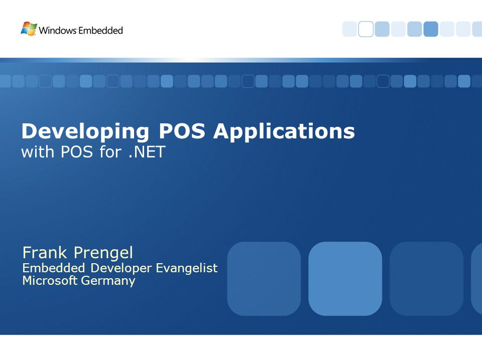 Developing POS Applications with POS for .NET