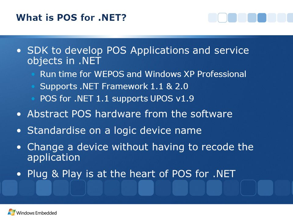 SDK to develop POS Applications and service objects in .NET