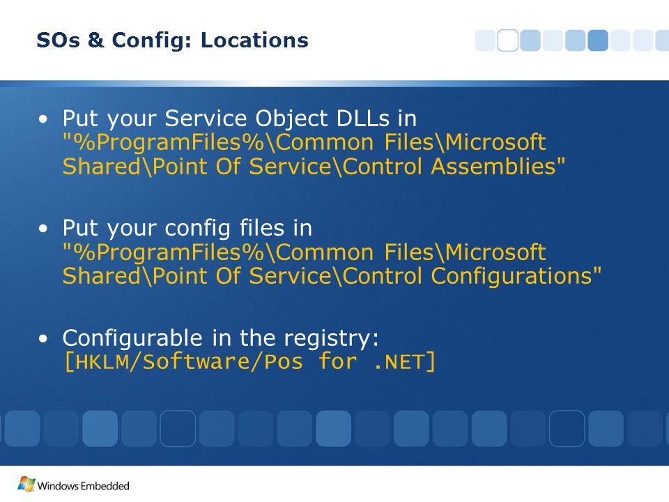 SOs & Config: Locations
