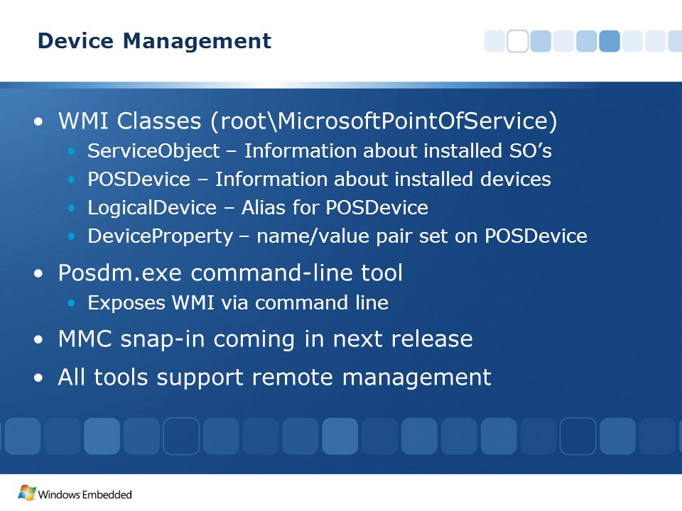 WMI Classes (root\MicrosoftPointOfService)