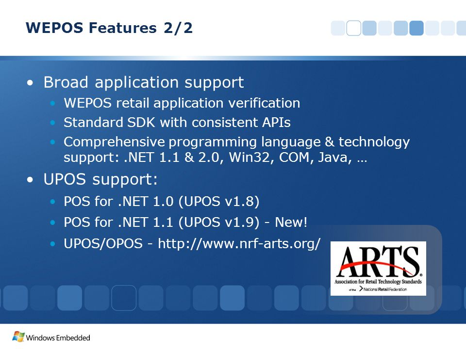 Broad application support