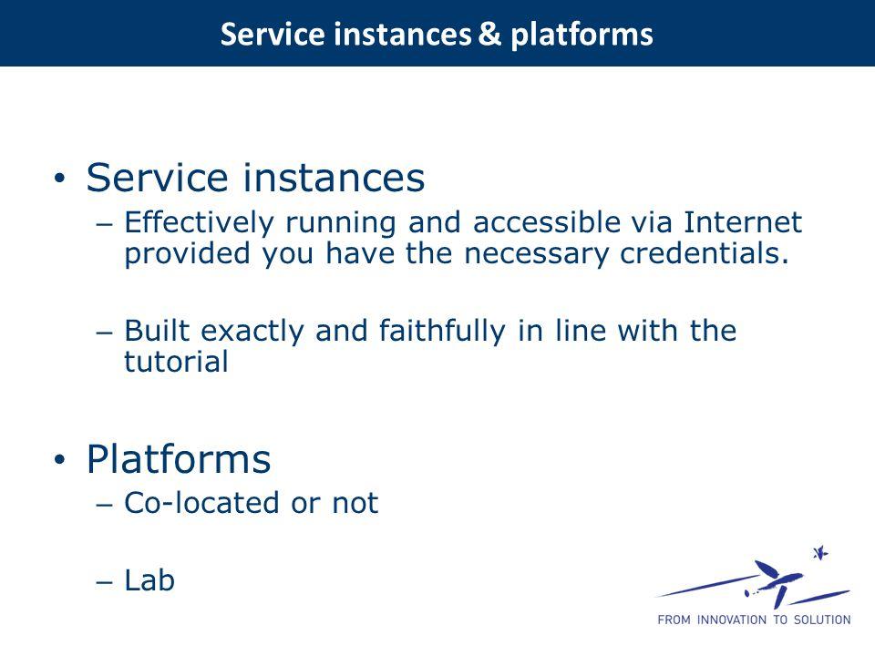 Service instances & platforms