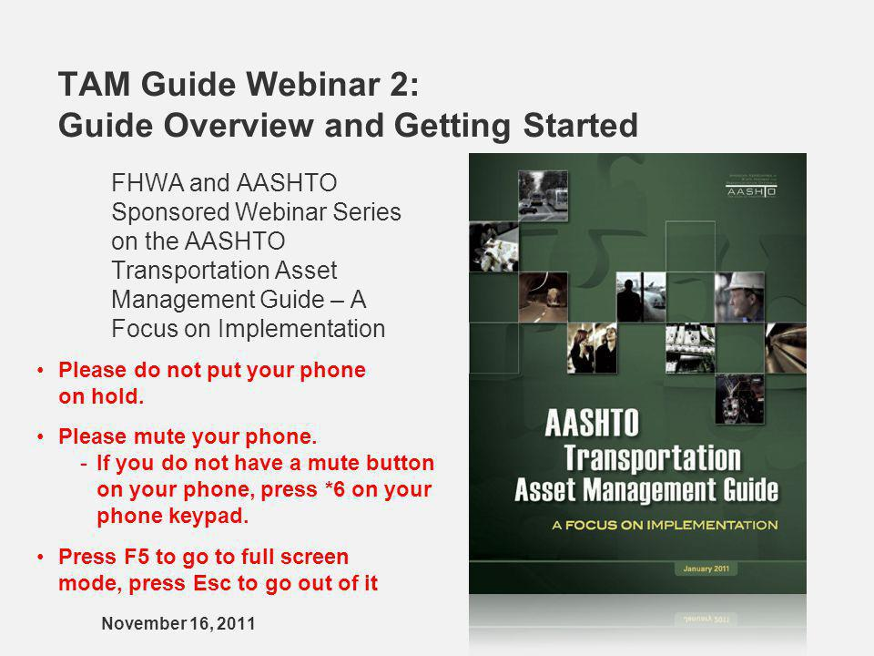 TAM Guide Webinar 2: Guide Overview and Getting Started