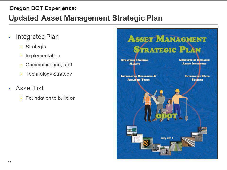 Updated Asset Management Strategic Plan