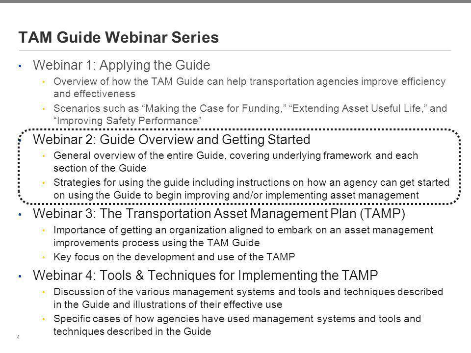TAM Guide Webinar Series