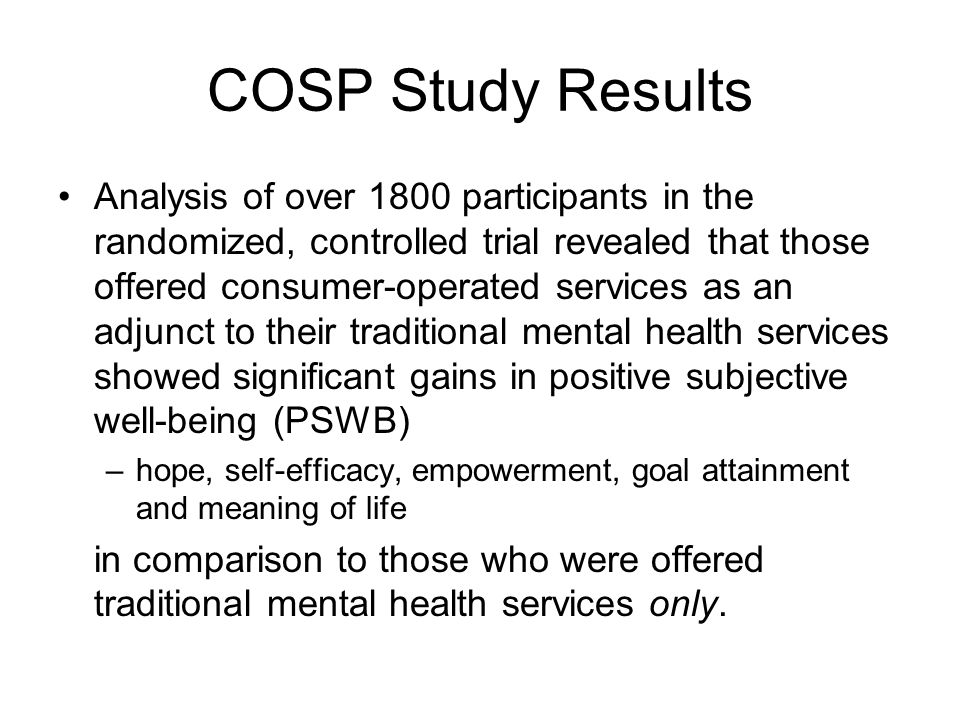 COSP Study Results