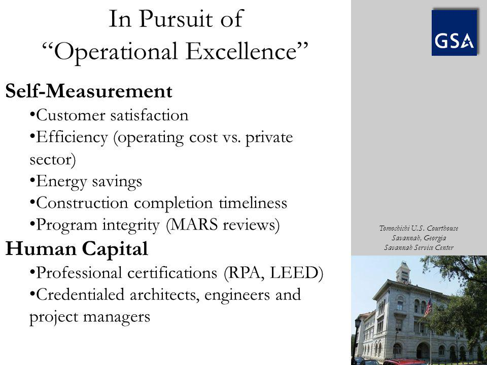 In Pursuit of Operational Excellence