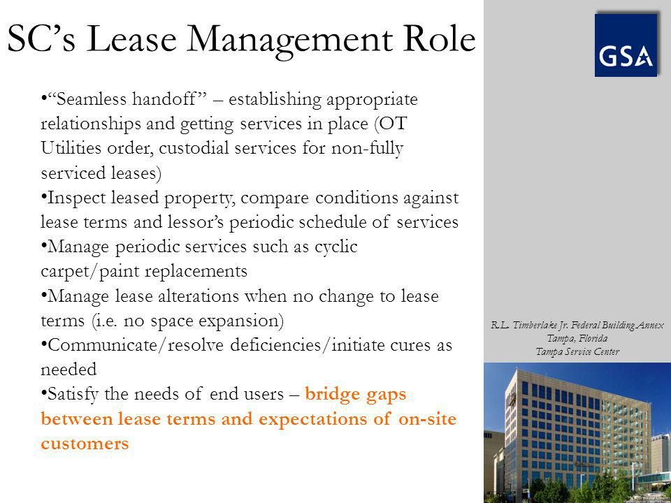 SC's Lease Management Role
