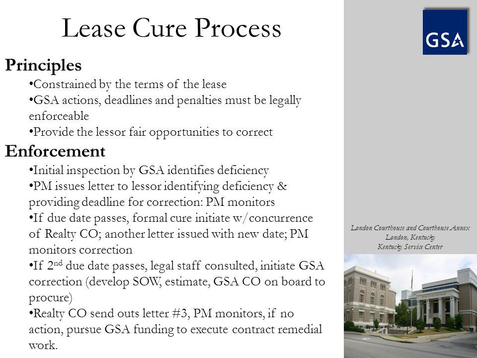 Lease Cure Process Principles Enforcement