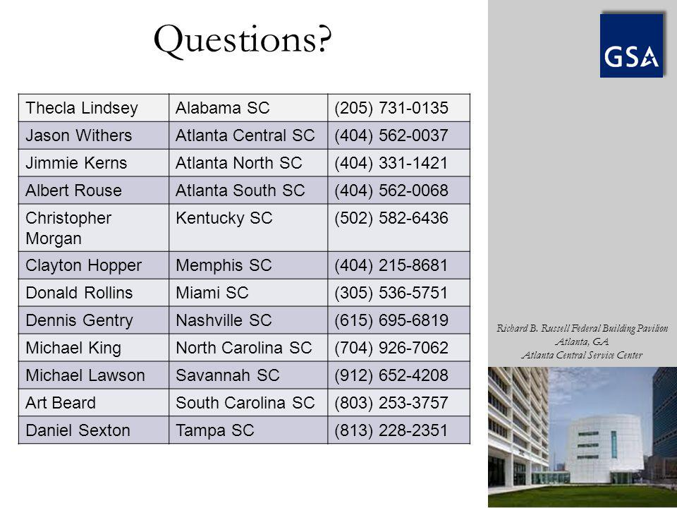Questions Thecla Lindsey Alabama SC (205) 731-0135 Jason Withers