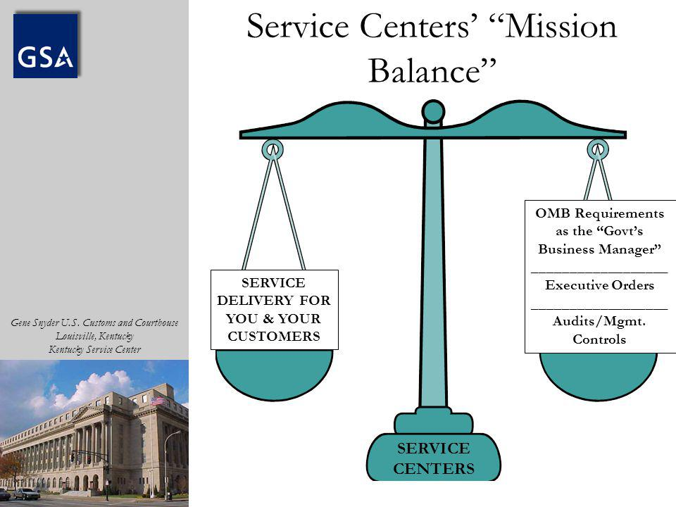 Service Centers' Mission Balance