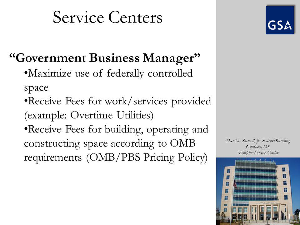 Service Centers Government Business Manager