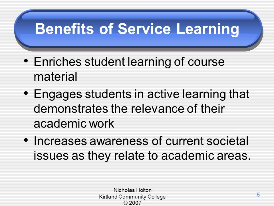 A Context for Service-Learning