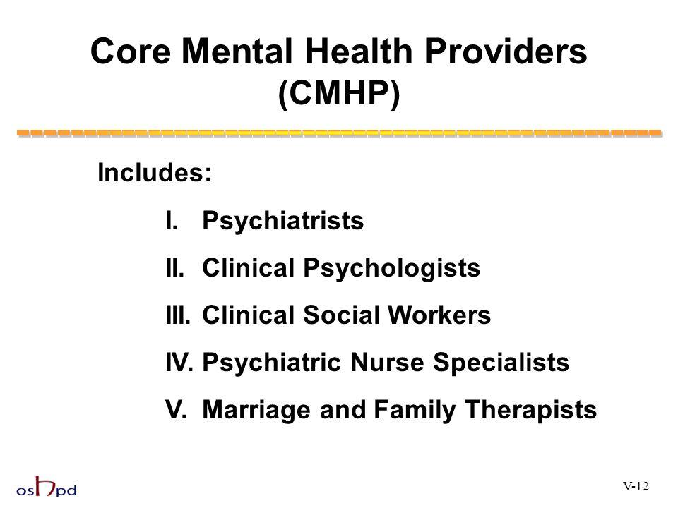 Core Mental Health Providers (CMHP)