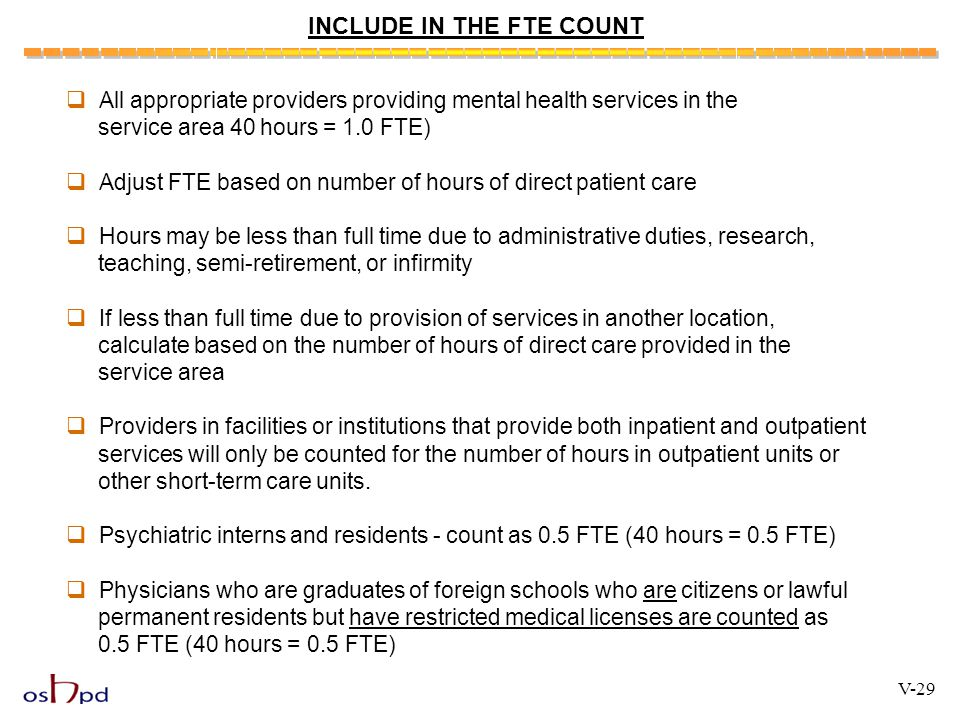INCLUDE IN THE FTE COUNT