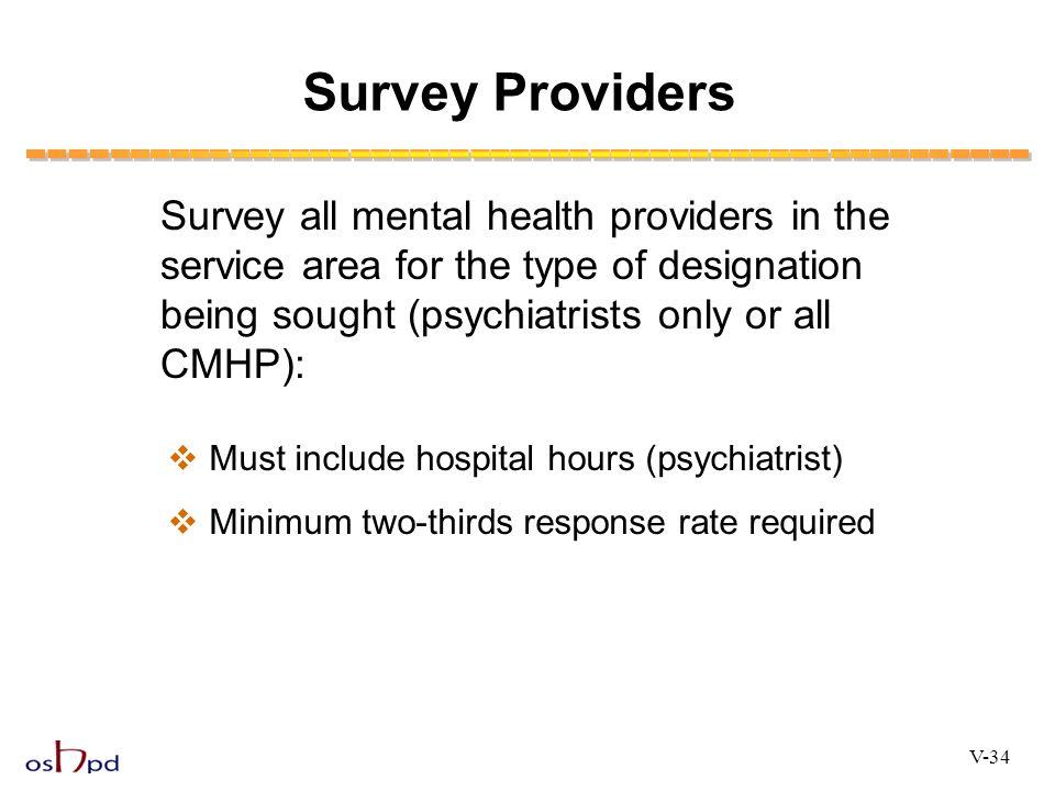Survey Providers