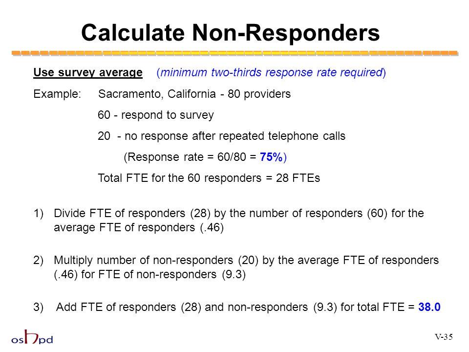 Calculate Non-Responders