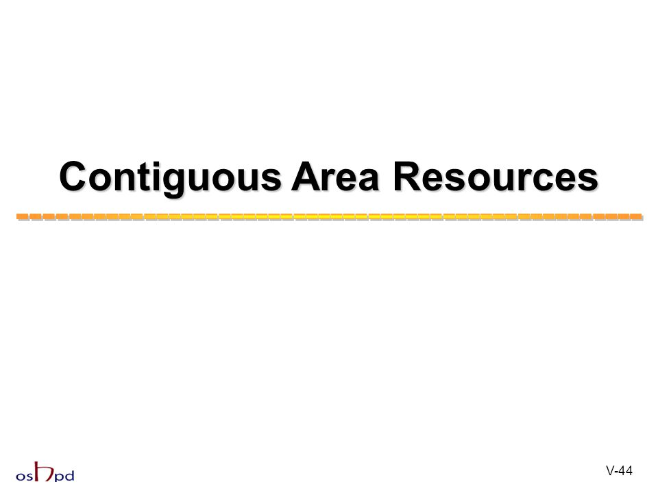 Contiguous Area Resources