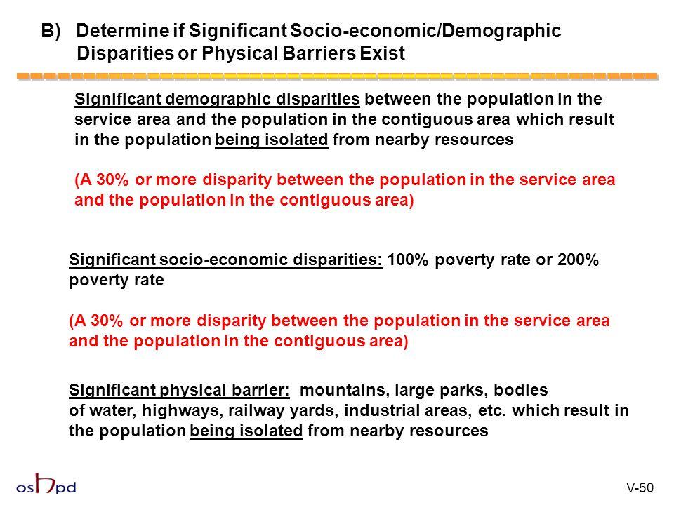 B) Determine if Significant Socio-economic/Demographic