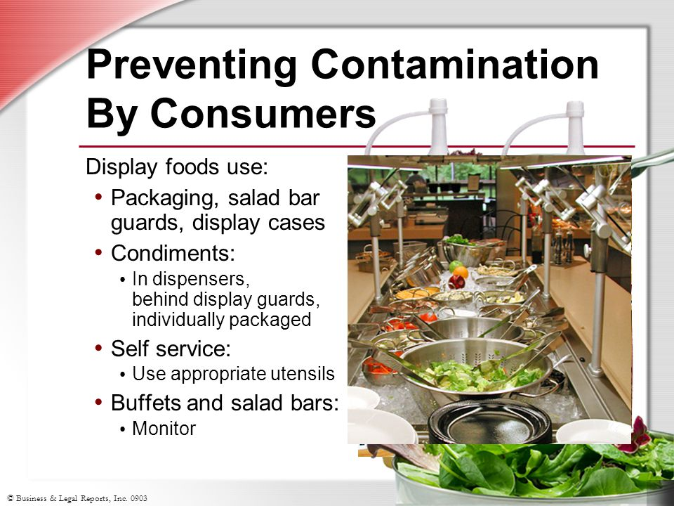 Preventing Contamination By Consumers