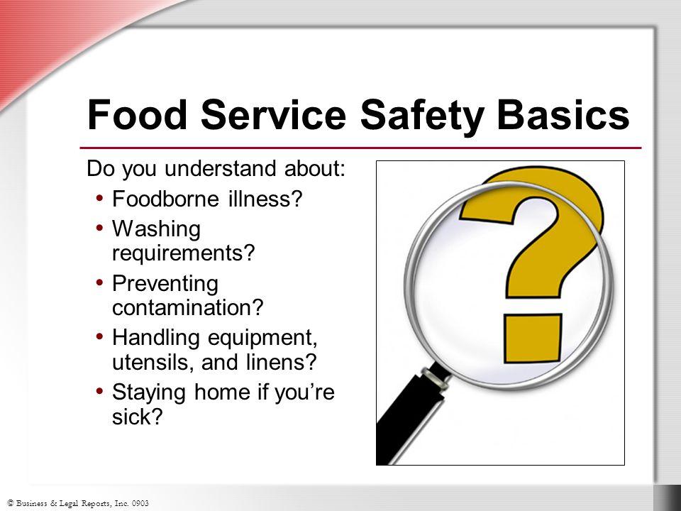 Food Service Safety Basics