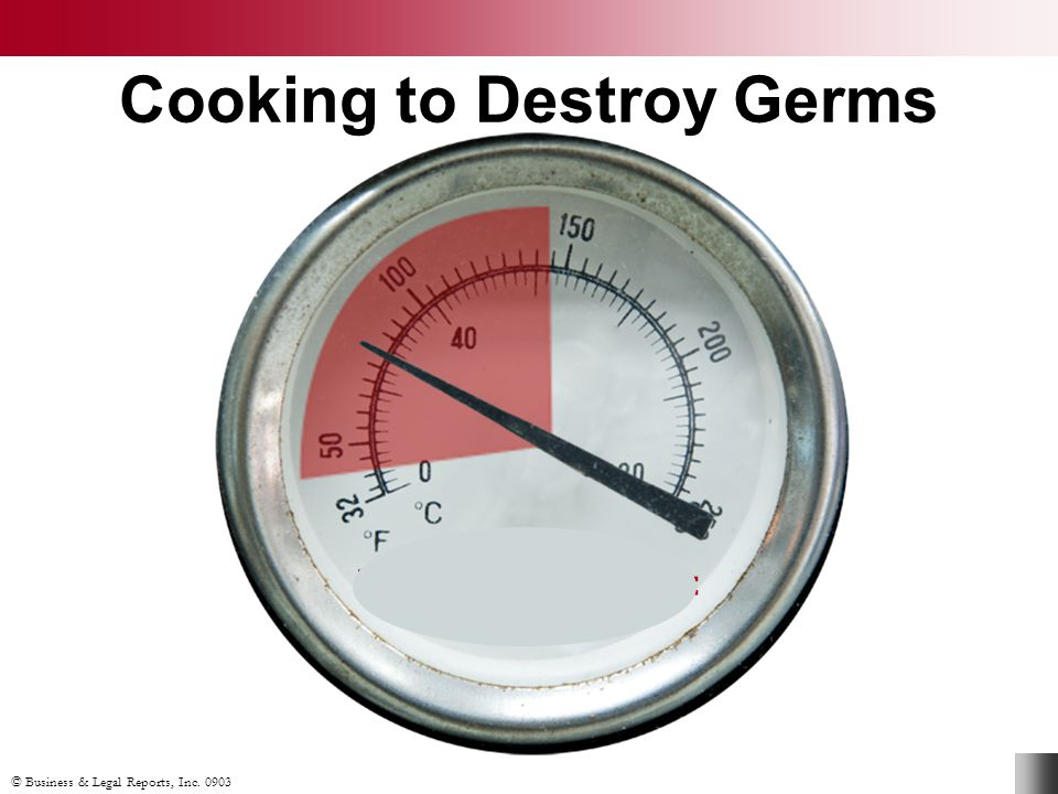 Cooking to Destroy Germs