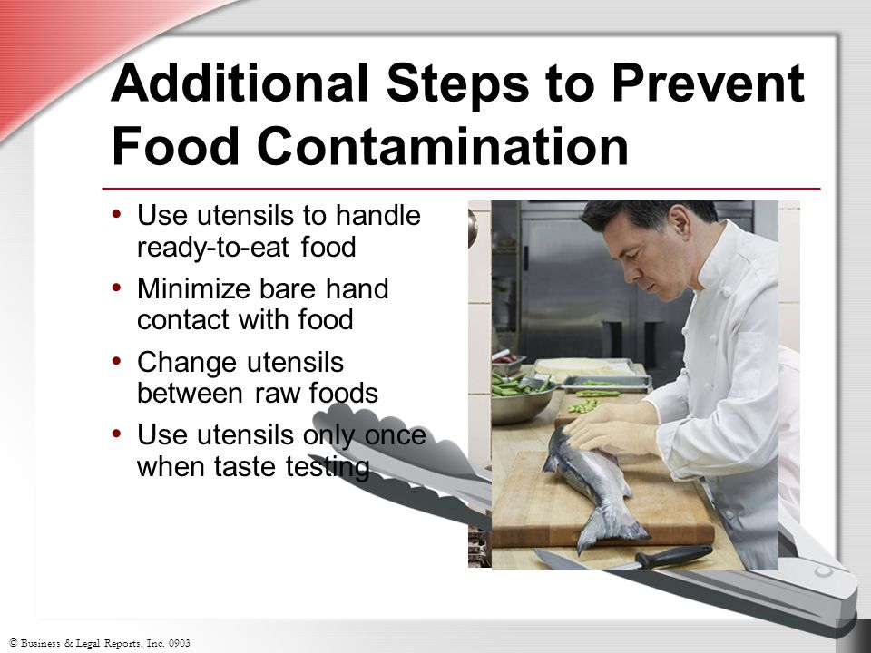 Additional Steps to Prevent Food Contamination
