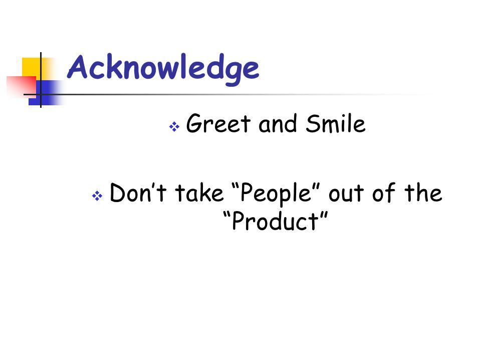 Don't take People out of the Product