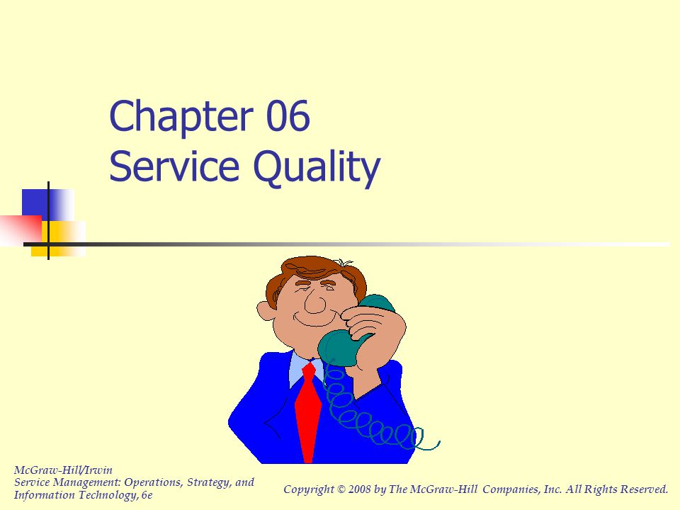 Chapter 06 Service Quality