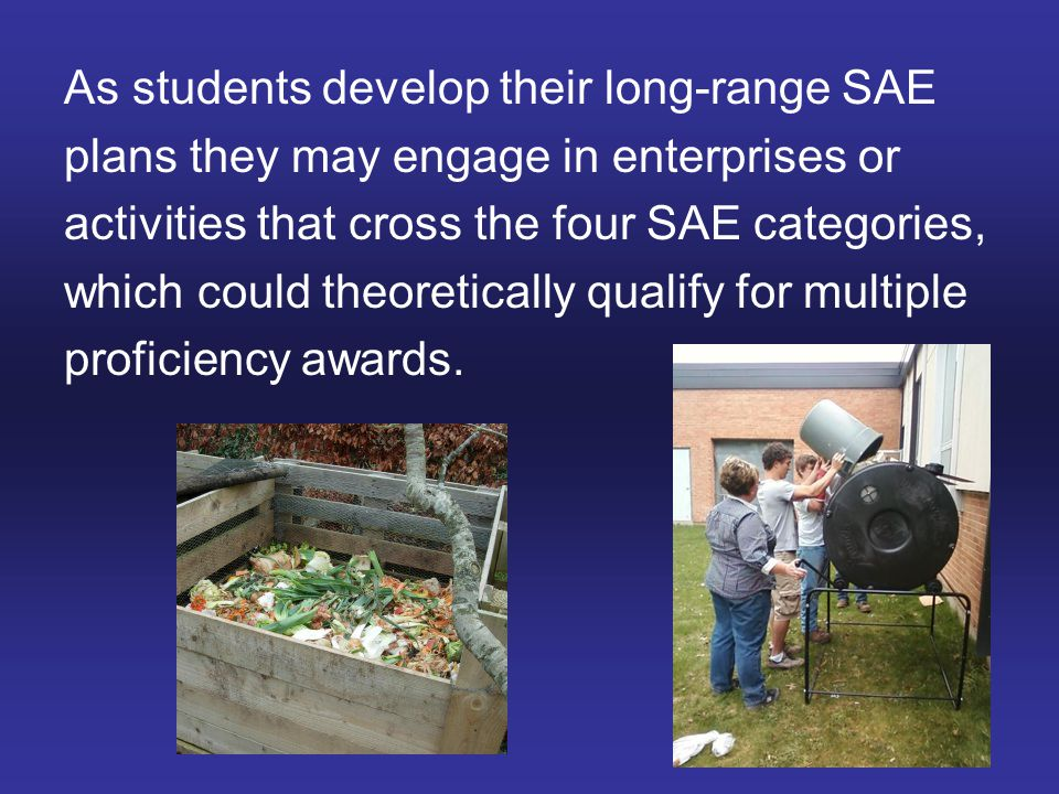 As students develop their long-range SAE