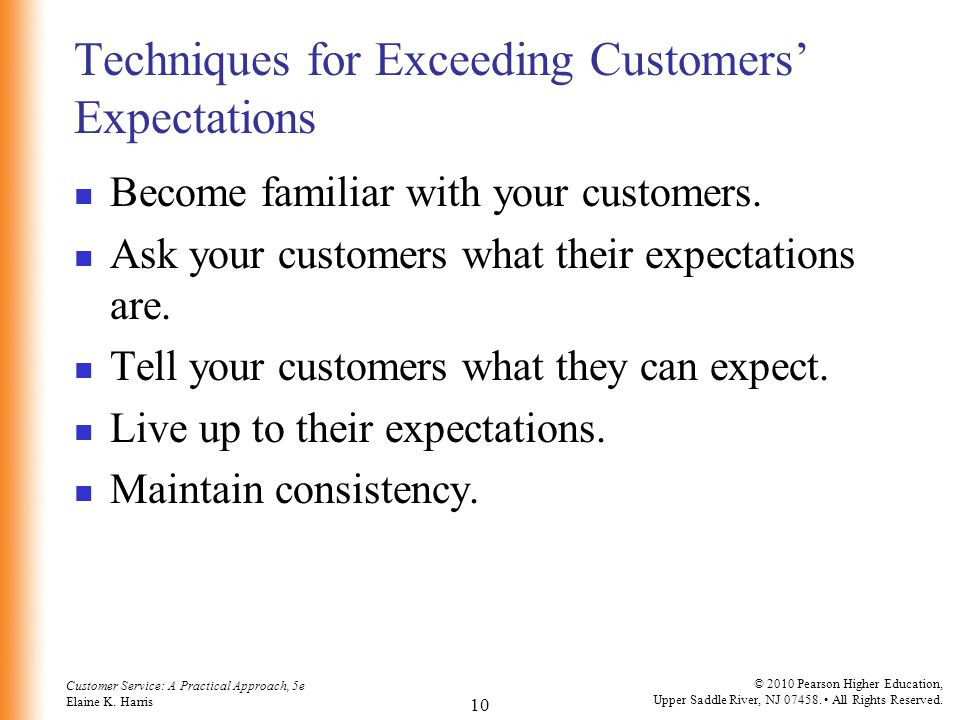 Techniques for Exceeding Customers' Expectations