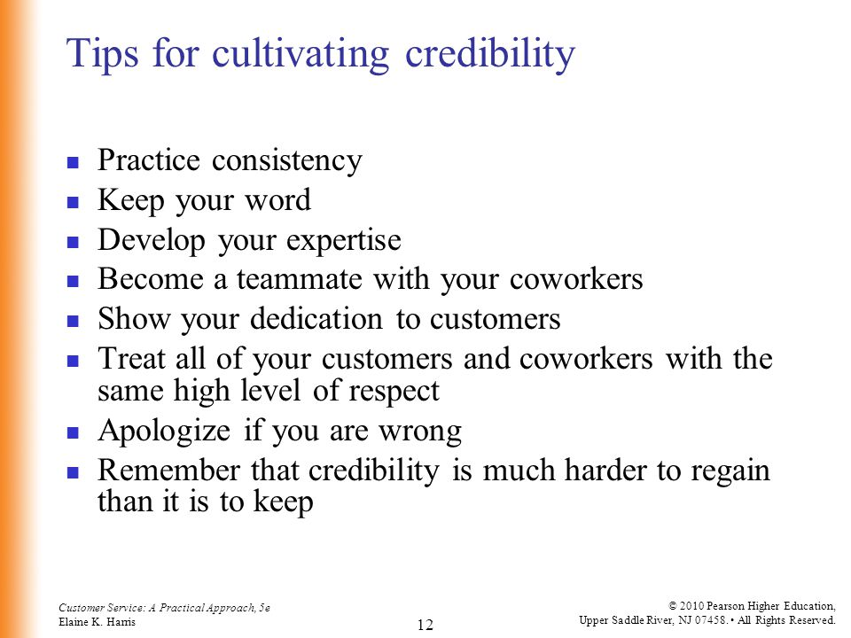 Tips for cultivating credibility