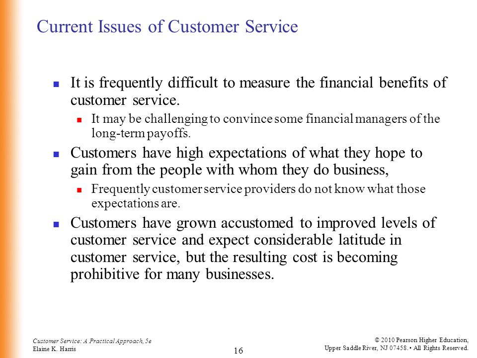 Current Issues of Customer Service