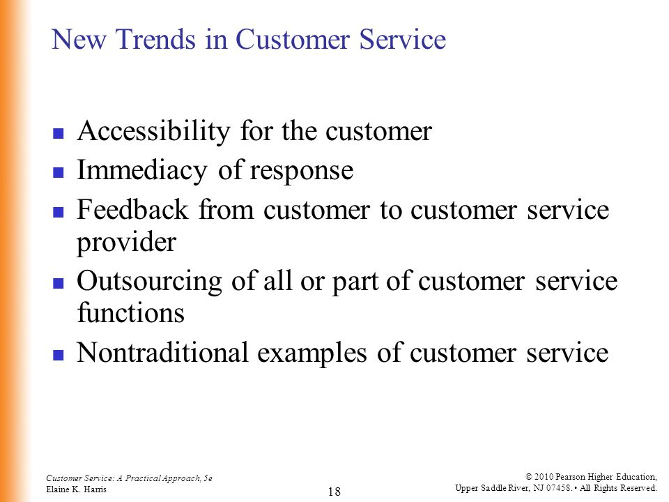 New Trends in Customer Service