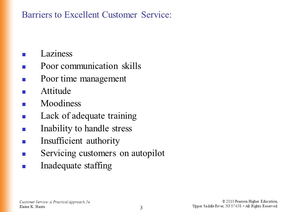 Barriers to Excellent Customer Service:
