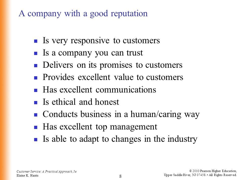 A company with a good reputation