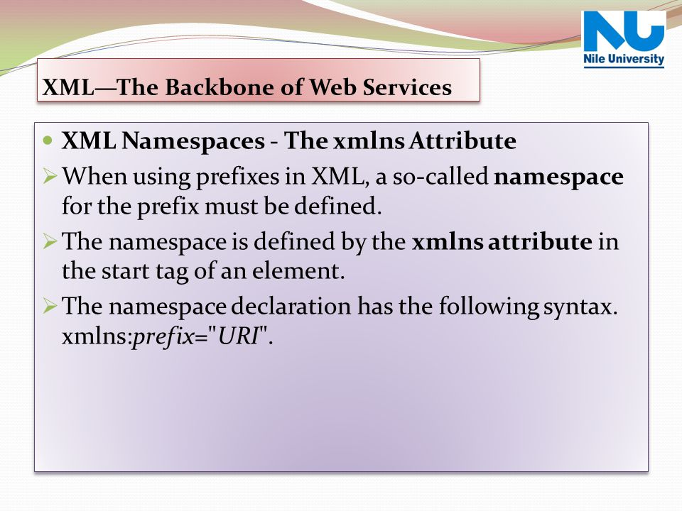 XML—The Backbone of Web Services