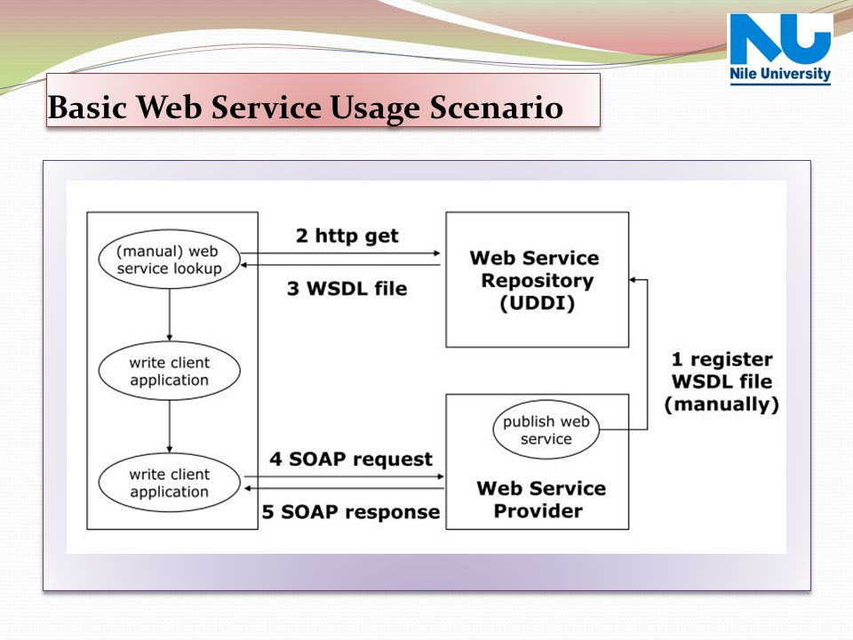 Basic Web Service Usage Scenario