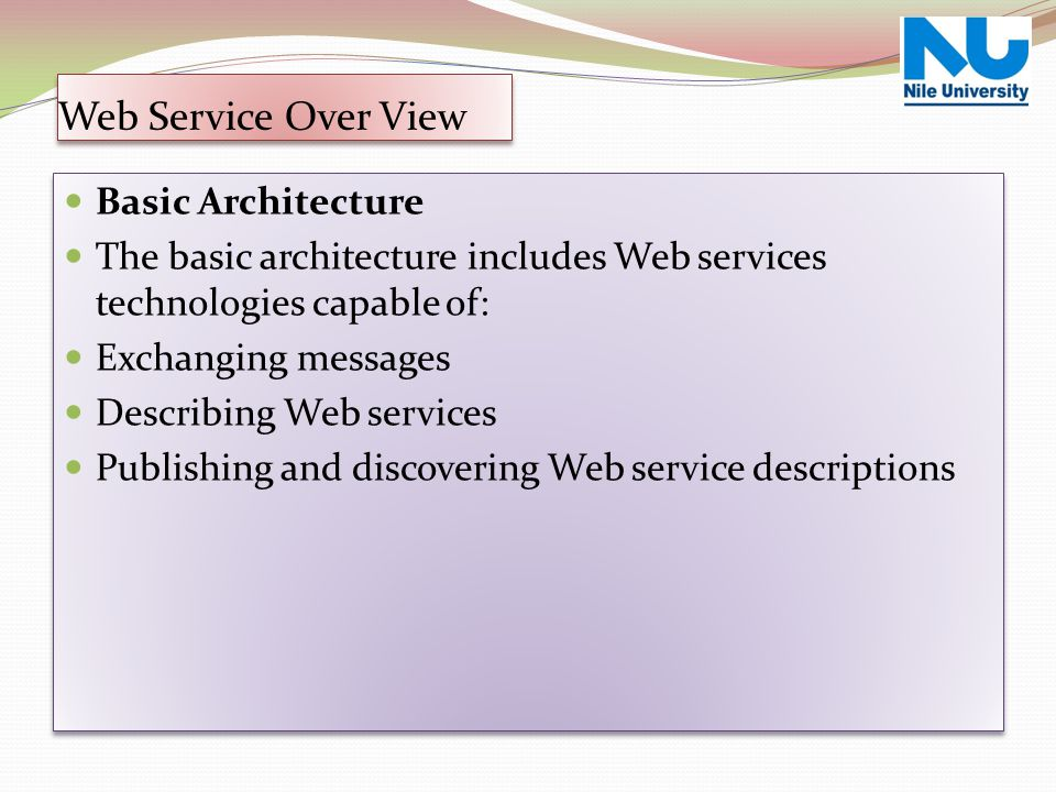 Web Service Over View Basic Architecture