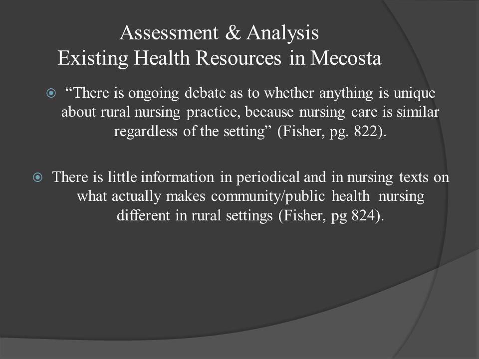 Assessment & Analysis Existing Health Resources in Mecosta