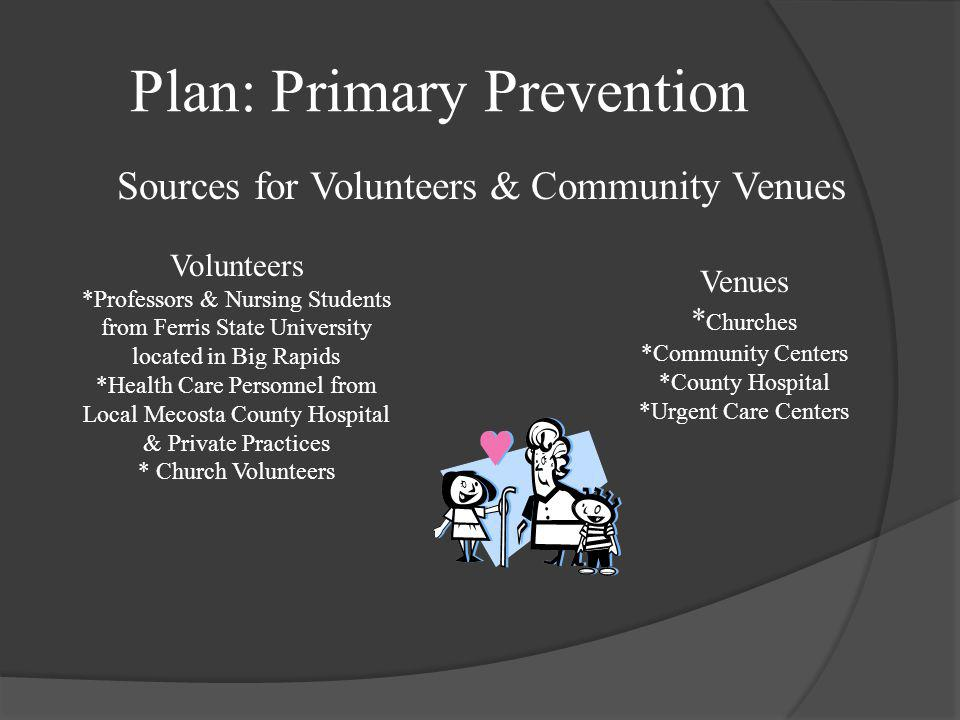 Plan: Primary Prevention